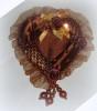 Зеркало-сердце 14см, терракотовый Y2T003