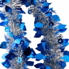 Мишура Лесная-1 М0711 серебро+синий  2м