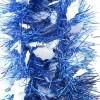Мишура Зимняя М0304 белый+синий 2*12