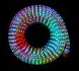 Дюралайт бухта 600л., 3/8 функц., 10м+1,5м, плоский 2 ряда, цветные л./прозр. туб Е 91047