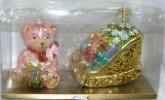 Набор Мишутка, Сани с подарками, Мишка 7668