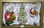 Набор Мышки большая и маленькая с подарками+Елка 6373