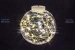 Светлячки в лампочке-15см WN LED 10 л.,т.бел.,5м,черн.пров.,IP20 ww.01.5B.1.15