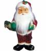 Дед Мороз музыкальный 51см, со свечей/фонарем, длинн. красная шуба Е 60799