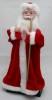 Дед Мороз музыкальный 41см, со свечой/фонарем, красная шуба Е 60803
