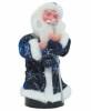 Дед Мороз музыкальный 25см, со свечой/фонарем, синяя/красная шуба Е 60809