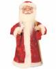 Дед Мороз музыкальный 30 см со свечей/фонарем, крас./синяя шуба  Е 60810