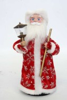 Дед Мороз музыкальный 30см, со свечей/фонарем, красная/синяя шуба Е 60811