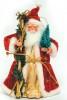 Дед Мороз 18см с посохом/с елкой Е 0256