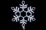 Снежинка WN LED дюралайт, 57см, белая, соед., flash-w IP 65 9111-57W