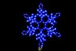 Снежинка WN LED дюралайт, 57см, синяя, соед., flash-w IP 65 9111-57B