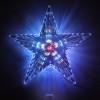 Макушка Звезда WN LED сине-красная, переливается из середины в края, большая Win3901012