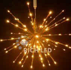 Ежик-трансформер RL LED 45см, 96л, теплый белый, фольга золотая, 220В, RL-TB45CF-WW