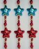 Бусы 2,7м, 32 звезды/шарики 6цв. Е 40059