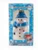 Снеговик с метлой 9см, в подарочной упаковке ФУ-407