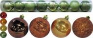 Набор шаров Д=6см*12шт., 2цв., искра/блест./стекло/блест. с полосками в тубе Е 80261