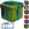 Подарок 11см матов. в горошек с лентой Е 80238