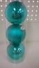 Набор шаров Д=8,5см*3шт., голубой ТН85009