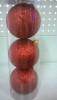 Набор шаров Д=8,5см*3шт., Радужный Laser, красный ТН85014