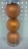 Набор шаров Д=8,5см*3шт., Радужный Laser, оранжевый ТН85013
