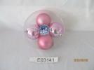 Набор шаров Д=8см*4шт., 1цв., блестящий/матовый в ПВХ Е 93141