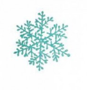 Снежинка 15см искра, бел./голуб. Е 50656