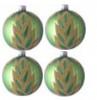 Набор шаров Д=6см*4шт. Багряный, в подарочной упаковке КН-60-1413