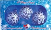 Набор шаров Д=6см*3шт. Хрустальный, в подарочной упаковке КН-60-1257