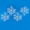 Снежинка 15см*4шт. пушистый снег, белый Е 50654