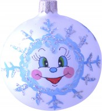 Шар Д=8см, Снежинка, в подарочной упаковке КУ-80-14212