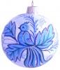 Шар Д=8,5см, Гжель Райская птица, в подарочной упаковке КУ-85-104