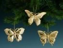 Бабочки 9см*3шт., золотые 25272