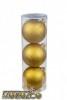 Набор шаров Д=8,5см*3шт., Радужный Laser, золото ТН85012