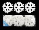 Снежинка 9,5см*18шт., мягкая в ПВХ Е 91056
