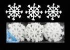 Снежинка 9,5см*18шт., мягкая в ПВХ Е 91057