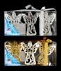 Ангел 8,5см*3шт., 2цв., зеркальная серия в ПВХ с лентой Е 91067
