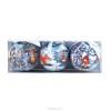 Набор шаров Д=7,5см*3шт., Снегурочка/Серая шейка/Дед Мороз и лето в ПВХ 073