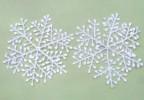Снежинка 15см*4шт. перламутр, белый Е 50655