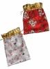 Мешочек для подарка 15*24см, 2в. Снеговик/Дед Мороз Е 70148