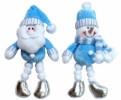 Кукла Снеговик/Дед Мороз 18см, с ногами из снежков мягкий Е 80325