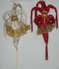 Кукла Клоун 20см с мешком для подарков мягкий  Е 80178