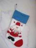 Носок мягкий 51см, эксклюзив. дизайн д. мороз/снегурочка/снеговик  Е 91291