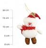 Кукла Снеговик/Дед Мороз 15см, 2цв., в шапке с колокольчиком мягкий Е 91360
