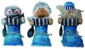 Кукла Дед Мороз/Снеурочка с башмачком для подарков 20см  Е 92072