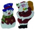Кукла Дед Мороз/Снеговик 20см  Е 92054
