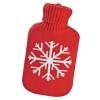 Грелка в чехле красн. со снежинкой 10011