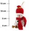 Кукла Снеговик 14см, 4цв., с колокольчиком мягкий Е 91361