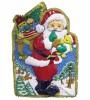 Панно Дед Мороз с мишурой 77*51см Е 3029
