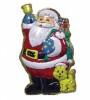 Панно Дед Мороз с кошкой, с мишурой 74*43см Е 3193