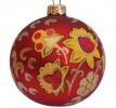 Шар Д=8,5см, Хохлома Цветок красный, в подарочной упаковке КУ-85-94